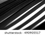 curled in a roll black paper... | Shutterstock . vector #490905517