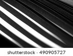 curled in a roll black paper... | Shutterstock . vector #490905727