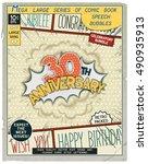 30 th anniversary. happy... | Shutterstock .eps vector #490935913