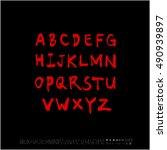 alphabet   number   handwriting ...   Shutterstock .eps vector #490939897