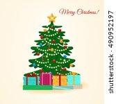 vector illustration. decorated... | Shutterstock .eps vector #490952197