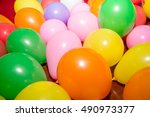 close up detail of brightly... | Shutterstock . vector #490973377