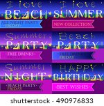 invitation cards to parties.... | Shutterstock .eps vector #490976833