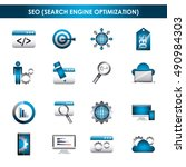 search engine optimization flat ... | Shutterstock .eps vector #490984303