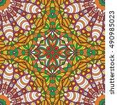 tracery seamless calming... | Shutterstock .eps vector #490985023