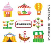 amusement cartoon vector | Shutterstock .eps vector #490985473