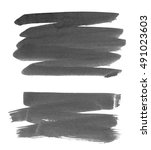 brush stroke and texture. smear ... | Shutterstock . vector #491023603