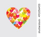 heart graphic   several graphic ... | Shutterstock .eps vector #491056453