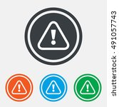 attention sign icon.... | Shutterstock .eps vector #491057743
