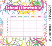 school timetable template for... | Shutterstock .eps vector #491062207