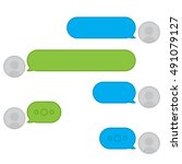 vector chat. messager interface....   Shutterstock .eps vector #491079127