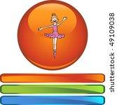 ballerina girl | Shutterstock . vector #49109038