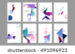 6 annual report brochure... | Shutterstock .eps vector #491096923