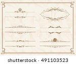 frame set vector    Shutterstock .eps vector #491103523