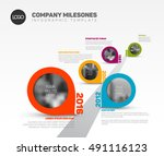 vector infographic company... | Shutterstock .eps vector #491116123
