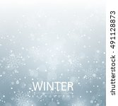 winter season background with... | Shutterstock .eps vector #491128873
