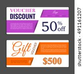 gift voucher template. can be... | Shutterstock .eps vector #491161207