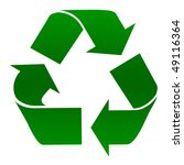 green recycling symbol isolated ... | Shutterstock . vector #49116364