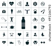 health icon set | Shutterstock .eps vector #491166793