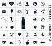health icon set | Shutterstock .eps vector #491166793