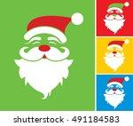 christmas   santa claus various ... | Shutterstock .eps vector #491184583