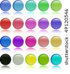 the color raster button set ... | Shutterstock . vector #49120546