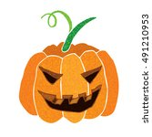 halloween pumpkins  ... | Shutterstock .eps vector #491210953