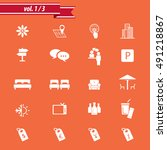 hotel icon set   hotel... | Shutterstock .eps vector #491218867