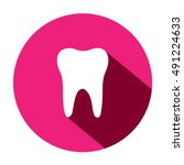 tooth icon. isolated  white on...