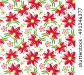 floral vintage seamless pattern | Shutterstock .eps vector #491246377