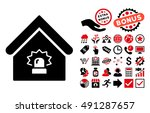 realty alarm pictograph with... | Shutterstock . vector #491287657
