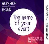 poster design for event  online ... | Shutterstock .eps vector #491289043