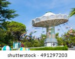 carousel in tibidabo park ... | Shutterstock . vector #491297203