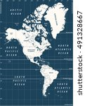 south and north america high... | Shutterstock .eps vector #491328667