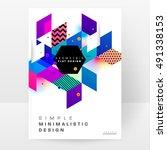 geometric background template... | Shutterstock .eps vector #491338153