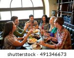 leisure  eating  food and... | Shutterstock . vector #491346673