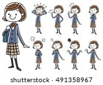 female student | Shutterstock .eps vector #491358967