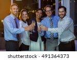 portrait of businesspeople... | Shutterstock . vector #491364373