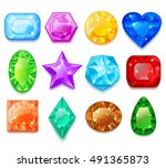 set of colorful transparent... | Shutterstock .eps vector #491365873