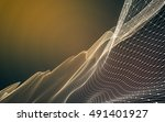 abstract polygonal space low... | Shutterstock . vector #491401927