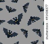 light grey bat vector seamless... | Shutterstock .eps vector #491438377