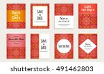 save the date. set of cards...   Shutterstock .eps vector #491462803