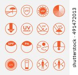 uv protection logo vector and... | Shutterstock .eps vector #491472013