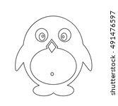 pinguin icon illustration design | Shutterstock .eps vector #491476597