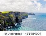 cliffs of moher  burren region  ...   Shutterstock . vector #491484007