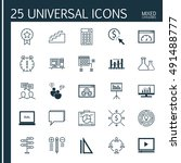 set of universal icons on... | Shutterstock .eps vector #491488777