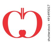apple vector logo | Shutterstock .eps vector #491495017