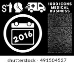 2016 calendar icon with 1000... | Shutterstock .eps vector #491504527