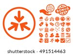 triple collide arrows icon with ... | Shutterstock .eps vector #491514463