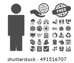 person icon with bonus elements.... | Shutterstock .eps vector #491516707